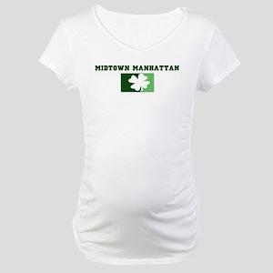 MIDTOWN MANHATTAN Irish (gree Maternity T-Shirt