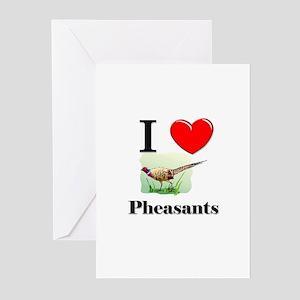 I Love Pheasants Greeting Cards (Pk of 10)