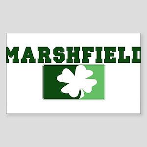MARSHFIELD Irish (green) Rectangle Sticker