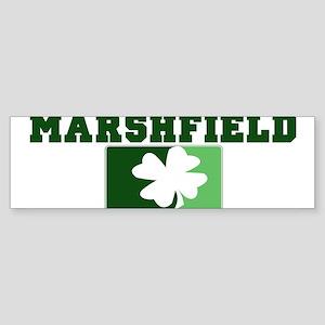 MARSHFIELD Irish (green) Bumper Sticker