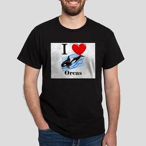 I Love Orcas Dark T-Shirt