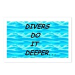 Divers Do It Deeper Postcards (Package of 8)