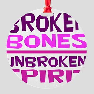 Broken bones Round Ornament