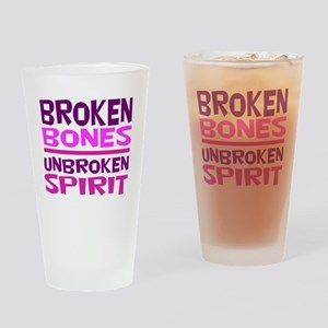 Broken bones Drinking Glass