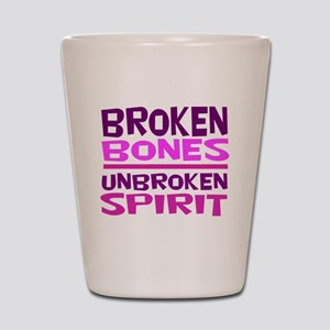 Broken bones Shot Glass