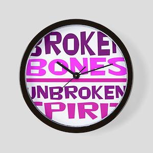 Broken bones Wall Clock
