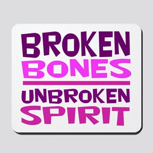 Broken bones Mousepad