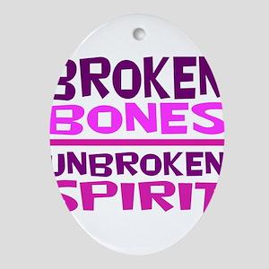 Broken bones Oval Ornament