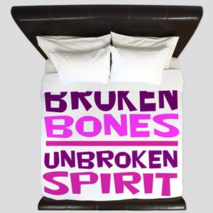 Broken bones King Duvet