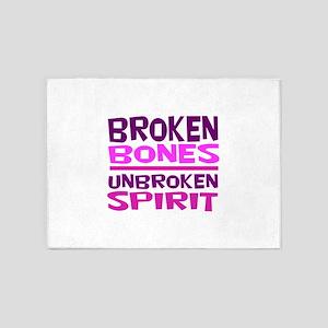 Broken bones 5'x7'Area Rug
