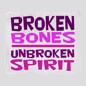 Broken bones Throw Blanket