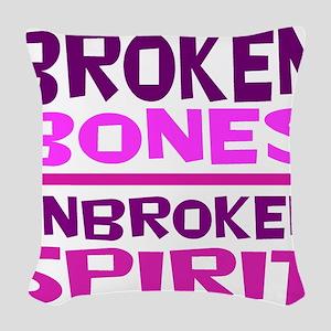 Broken bones Woven Throw Pillow