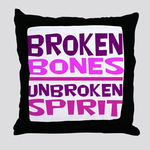 Broken bones Throw Pillow