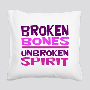 Broken bones Square Canvas Pillow