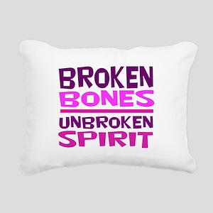 Broken bones Rectangular Canvas Pillow
