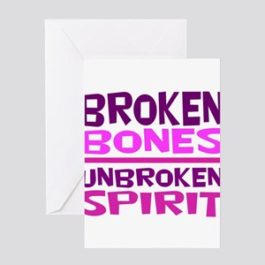 Broken bones Greeting Cards