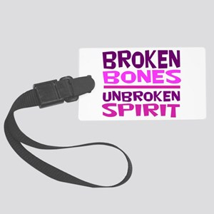 Broken bones Large Luggage Tag