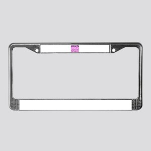 Broken bones License Plate Frame