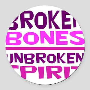 Broken bones Round Car Magnet