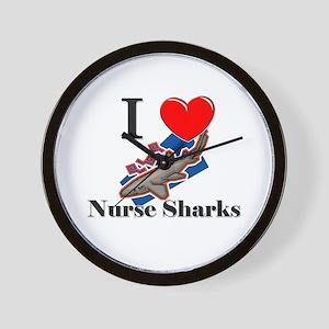 I Love Nurse Sharks Wall Clock