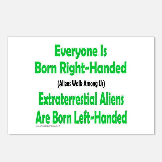 EVERYONE IS BORN RIGHT-HANDED Postcards (Package o