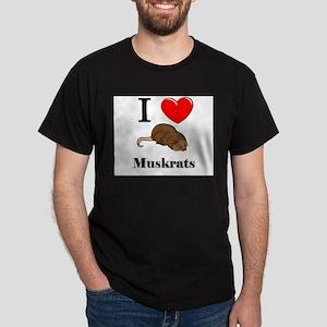 I Love Muskrats Dark T-Shirt
