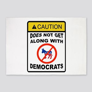 DEMOCRATS BE GONE 5'x7'Area Rug