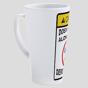 DEMOCRATS BE GONE 17 oz Latte Mug