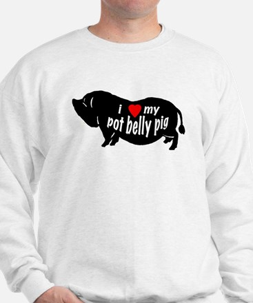 pot belly pig Sweatshirt