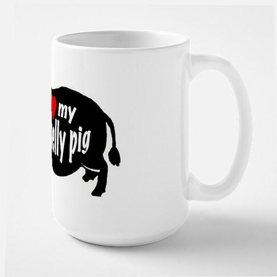pot belly pig Large Mug