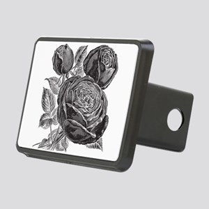 Vintage Rose Flowers Rectangular Hitch Cover