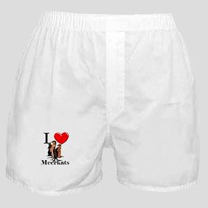 I Love Meerkats Boxer Shorts