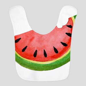 Watercolor Watermelon Polyester Baby Bib