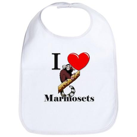 I Love Marmosets Bib