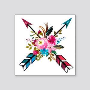 Watercolor Floral Arrow Bouquet Sticker