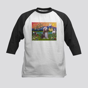 Fantasy Land / Bearded Collie Kids Baseball Jersey