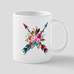 Watercolor Floral Arrow Bouquet Mugs