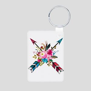 Watercolor Floral Arrow Bouquet Keychains