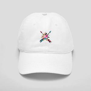 Watercolor Floral Arrow Bouquet Cap