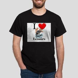 I Love Lemurs Dark T-Shirt