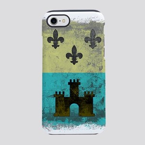 Vintage Grunge Acadian Flag iPhone 8/7 Tough Case