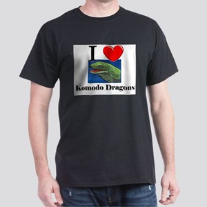 I Love Komodo Dragons Dark T-Shirt