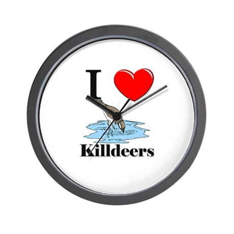 I Love Killdeers Wall Clock