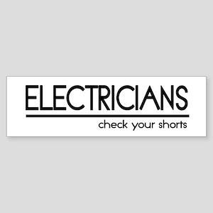 Electrician Joke Bumper Sticker