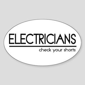 Electrician Joke Oval Sticker