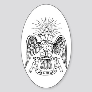 32 degree Mason Oval Sticker