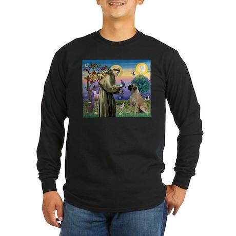 St Francis / Bullmastiff Long Sleeve Dark T-Shirt