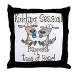 Goat Kidding Season Throw Pillow