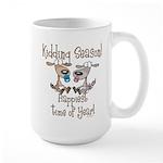 Goat Kidding Season Large Mug
