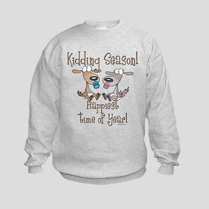 Goat Kidding Season Kids Sweatshirt